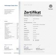 Set Volkswagen Zertifikat & Datenblatt